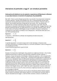 Interazione di particelle e raggi X con strutture periodiche - Fisicict ...