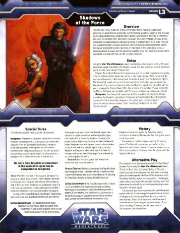 Shadows of the Force - Star Wars Miniverse