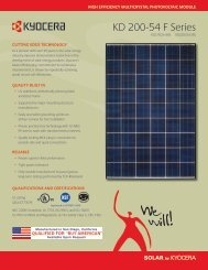KD 200-54 F Series - KYOCERA Solar - Matrix Energy