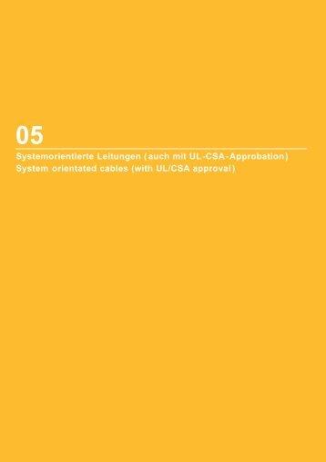 Systemorientierte Leitungen (auch mit UL-CSA-Approbation ...