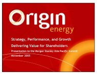 Presentation to Morgan Stanley Asia Pacific Summit - Origin Energy