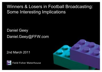 Winners & Losers in Football Broadcasting - Birkbeck Sport ...