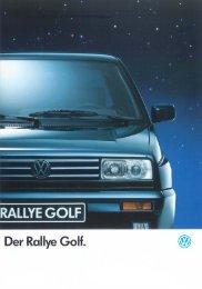 Der Rallye Golf. - Volkswagen Classic