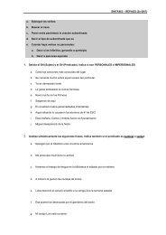 SINTAXIS – REPASO (2n BAT) a. Subrayar los verbos b. Buscar el ...