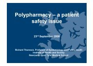 Polypharmacy – a patient safety issue