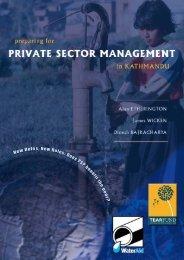 Preparing for private sector management in Kathmandu