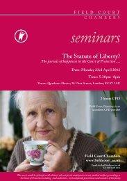 seminars The Statute of Liberty? - Field Court Chambers
