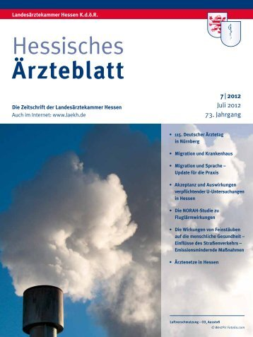 Hessisches Ärzteblatt Juli 2012 - Landesärztekammer Hessen