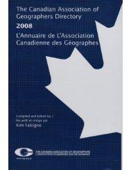 McGill University - The Canadian Association of Geographers