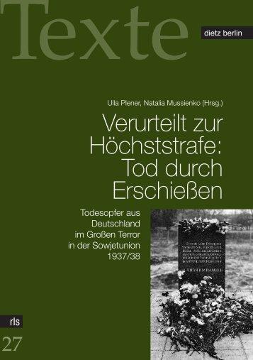 Verurteilt zur Höchststrafe - Rosa-Luxemburg-Stiftung