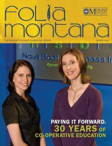 30 years of - Mount Saint Vincent University