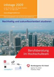 Infotage Frankfurt_2009_03.indd - Goethe-Universität
