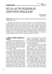sēlija un tās reģionālās identitātes meklējumi - Latvijas Zinātņu ...