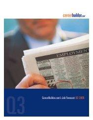CareerBuilder.com's Job Forecast: Q3 2005 - Icbdr