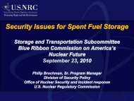 Security Issues for Spent Fuel Storage - Blue Ribbon Commission ...