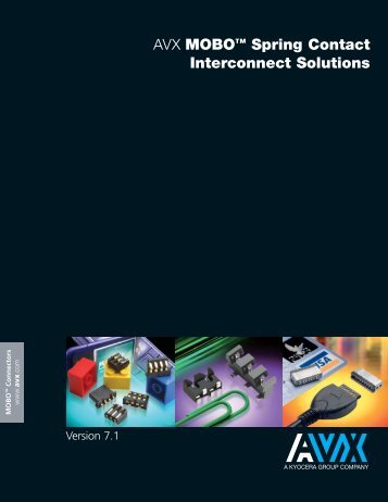 MOBO Spring Contact Interconnect Solutions Catalog