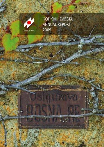 GODIÅNJI IZVJEÅTAJ ANNUAL REPORT 2009 - Bosna RE
