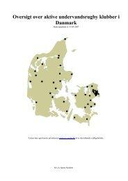 Oversigt over aktive undervandsrugby klubber i Danmark - Uv-Sport