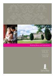 Wedding Menus and Information - Carton House