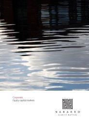 Corporate Equity capital markets - Nabarro