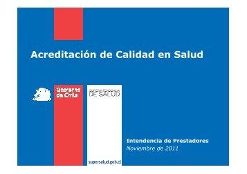 Acreditación de Calidad en Salud - Asociación Chilena de ...