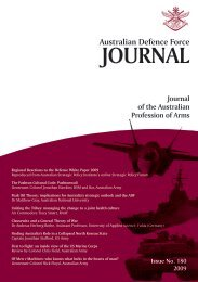 ISSUE 180 : Nov/Dec - 2009 - Australian Defence Force Journal
