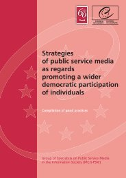 Strategies of public service media as regards promoting a wider ...