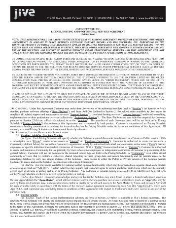 Software maintenance agreement international presence master license and maintenance agreement jive software platinumwayz