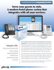 Serve your guests in style. A modern hotel phone system ... - PBXnSIP
