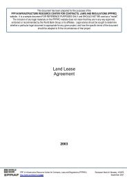 Land Lease Agreement - SADC PPP Network