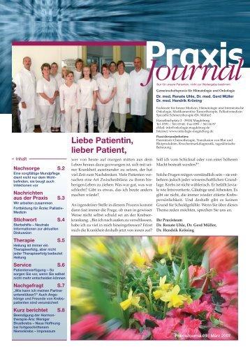 Ausgabe 9 / 2007 - Schwerpunktpraxis für Hämatologie und Onkologie