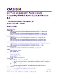 Service Component Architecture Assembly Specification Version 1.1