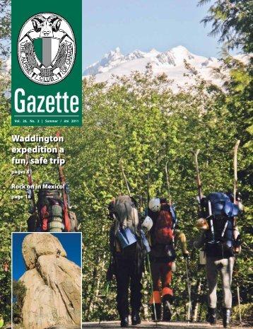 Summer 2012 Gazette - The Alpine Club of Canada