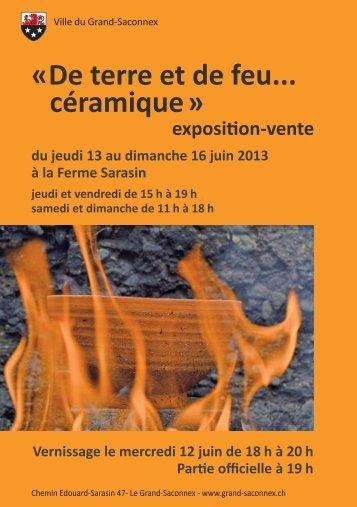 « De terre et de feu... céramique » - Grand-Saconnex