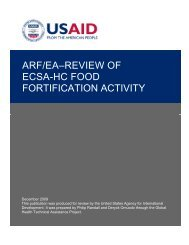 arf/ea–review of ecsa-hc food fortification activity - GH Tech