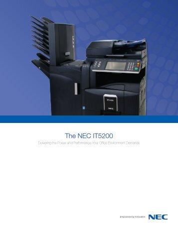 The NEC IT5200 - NEC Corporation of America