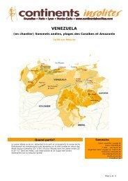 VENEZUELA - Continents Insolites