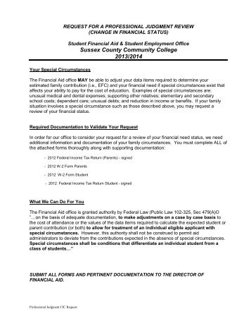 2013-14-request-for - Sussex County Community College
