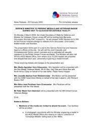 Draft Press Release - Tuesday, 11 January 2005 - Veterans-UK