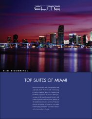 top suites of MiAMi - Elite Traveler