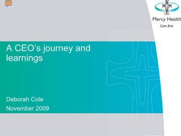 A CEO's journey and learnings ( pdf - 521 KB) - ARCHI