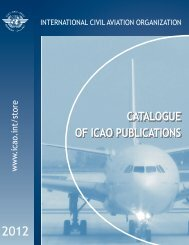 CATALOGUE OF ICAO PUBLICATIONS