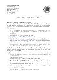 1. ¨Ubung zur Bioinformatik II, SS 2012 - Universität des Saarlandes