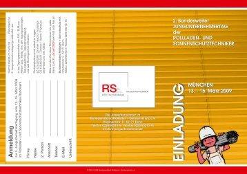 gibt es den Anmeldeflyer - Bundesverband Rollladen + ...