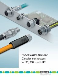 PLUSCON circular Circular connectors in M5, M8 ... - Phoenix Contact