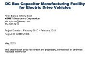 DC Bus Capacitor Manufacturing Facility for Electric Drive Vehicles