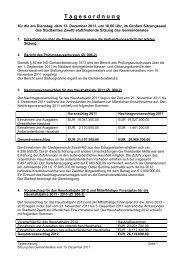 die komplette Tagesordnung zum Download als PDF