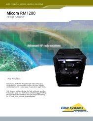 MICOM RM1200 Data Sheet - Elbit Systems of America