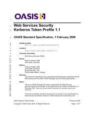 Web Services Security Kerberos Token Profile 1.1 - docs oasis open ...