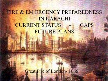 fire & em ergency preparedness in karachi current status